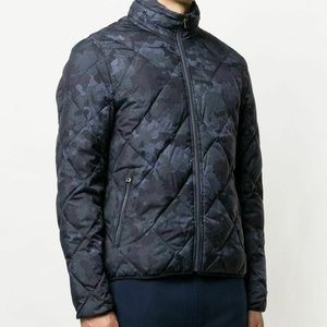 Michael Kors Down Jacket Quilted Navy Blue Sz L